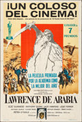 "Movie Posters:Academy Award Winners, Lawrence of Arabia (Columbia, 1963). Folded, Very Fine-. Argentinean One Sheet (29"" X 43""). Academy Award Winners.. ..."