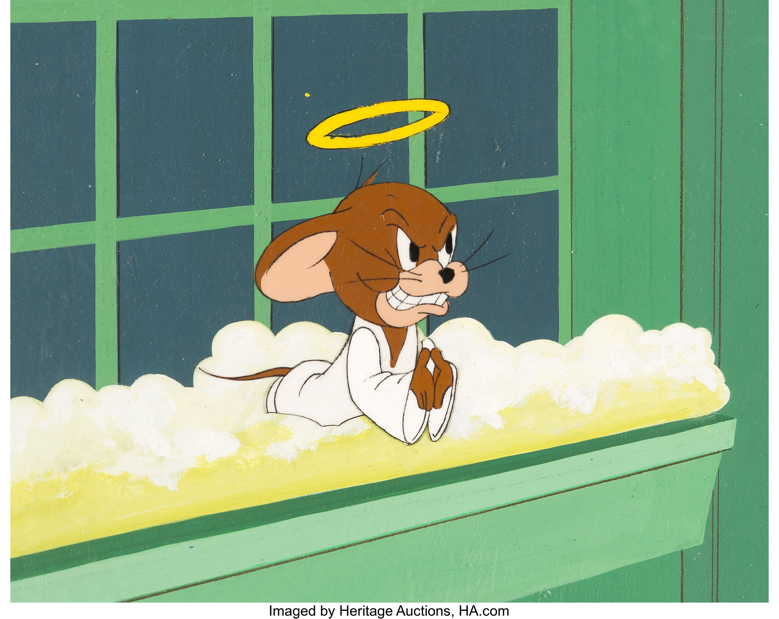 The Tom and Jerry Comedy Show Production Cel Setup and Key
