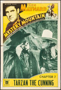"""Movie Posters:Serial, Mystery Mountain (Mascot, 1934). Fine- on Chartex. One Sheet (27"""" X 41"""") Chapter 7 -- """"Tarzan the Cunning."""" Serial.. ..."""