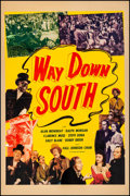 """Movie Posters:Musical, Way Down South (Screencraft, R-1940s). Fine+ on Linen. One Sheet (27"""" X 41""""). Musical.. ..."""
