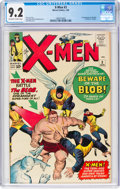 Silver Age (1956-1969):Superhero, X-Men #3 (Marvel, 1964) CGC NM- 9.2 Off-white to white pages....