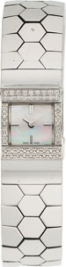 Estate Jewelry:Watches, Van Cleef & Arpels Diamond, Mother-of-Pearl, White Gold Ludo Swann Watch. ...