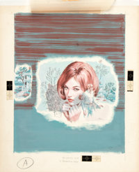 Edrien No Gentle Love by Jacquelyn Aeby Dustjacket Original Painting (Avalon Books, 1972)