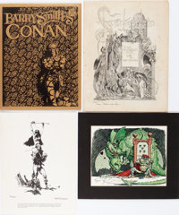 Barry Smith, Bernie Wrightson, Jeff Jones, and Michael Kaluta - Signed Limited Edition Portfolios and Prints Group of 8...