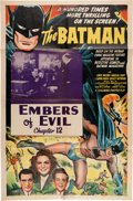 "Memorabilia:Movie-Related, The Batman Chapter 12 ""Embers of Evil."" (Columbia, 1943)...."