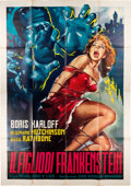 Memorabilia:Movie-Related, Son of Frankenstein Italian 4 - Fogli (Cine Edizione Bonanno, R-1963). ...