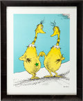 "Animation Art:Seriograph, Dr. Seuss ""Star Belly Friends"" Limited Edition Serigraph PC #LXXVII/XCIX (Dr. Seuss/The Chase Group, 2003)...."