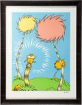 "Animation Art:Seriograph, ""The Lorax Book Cover"" Limited Edition Serigraph PC #LXXVII/XCIX (Dr. Seuss/The Chase Group, 2004)...."