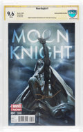 Modern Age (1980-Present):Superhero, Moon Knight #1 Sienkiewicz Variant (Marvel, 2014) CBCS Signature Series NM+ 9.6 White pages....