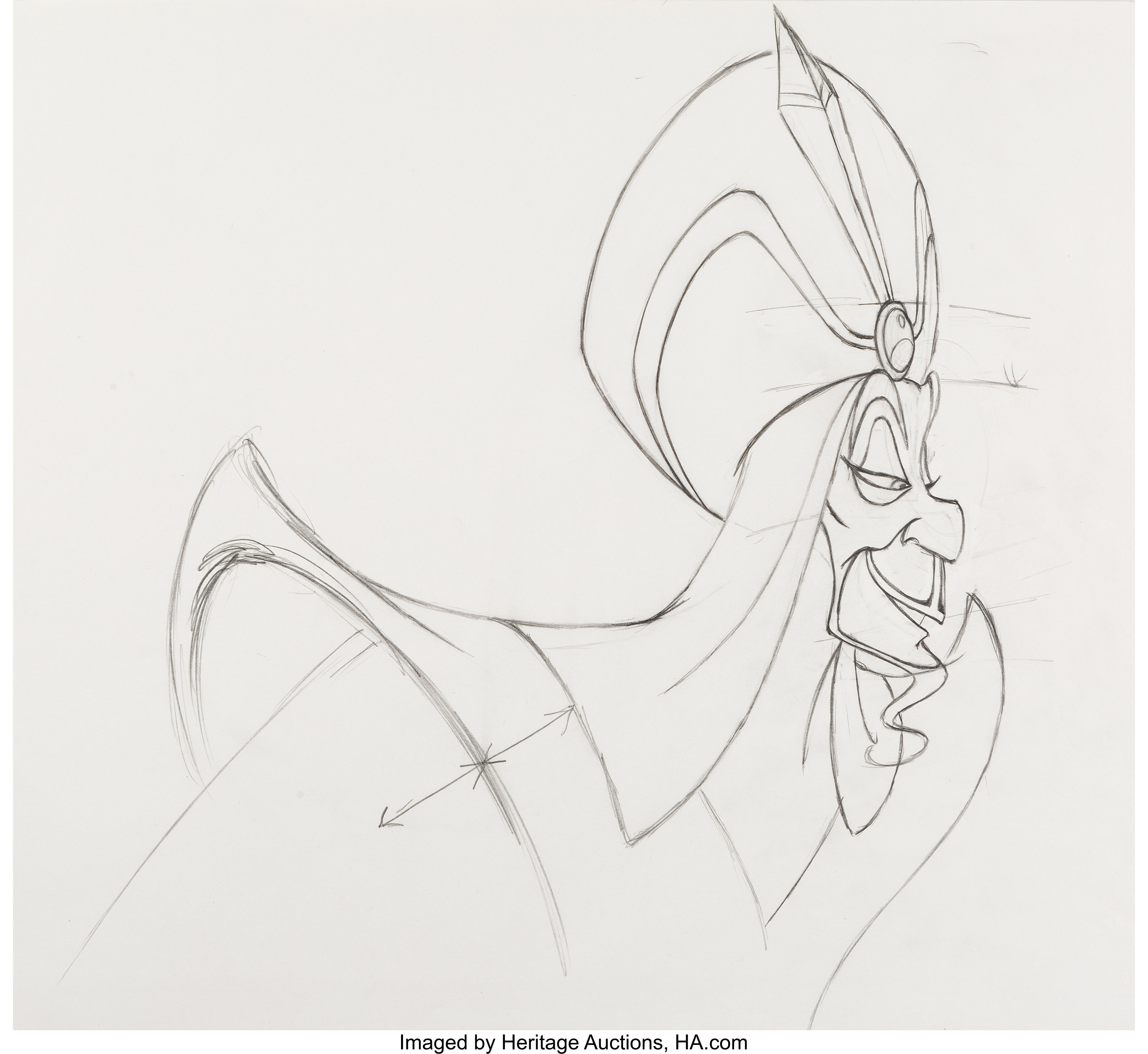 Aladdin jafar animation drawings group of 3 walt disney