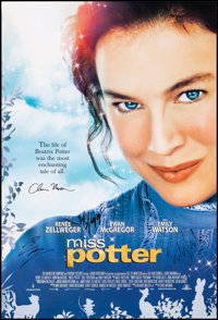 """Miss Potter & Other Lot (MGM, 2006). Rolled, Very Fine. Autographed International One Sheet & One Sheet (27""""..."""