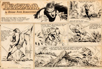 Burne Hogarth Tarzan #1003 Sunday Comic Strip Original Art dated 5-28-50 (United Feature Syndicate, 1950)