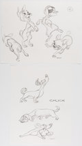 Animation Art:Concept Art, Lady and the Tramp 2: Scamp's Adventure Group of 14 Drawings(Disney, 2001).... (Total: 14 Original Art)