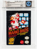 Video Games:Nintendo, Super Mario Bros. (NES, Nintendo, 1985, Canada) Wata 7.0 B+ (Seal Rating) Version: Oval SOQ TM/MC Mattel....