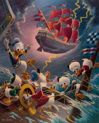 Carl Barks Afoul of the Flying Dutchman Signed Limited Edition Lithograph Print #314/345 (Another Rainbow, 1985)