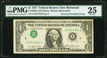 Inverted Overprint Error Fr. 1909-E $1 1977 Federal Reserve Note. PMG Very Fine 25