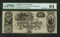 Obsoletes By State:Louisiana, New Orleans, LA- New Orleans Canal & Banking Company $10 18__ G24a Remainder PMG Choice Uncirculated 64.. ...