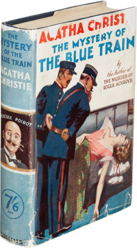 Agatha Christie. The Mystery of the Blue Train. London: W. Collins Sons & Co Ltd, 1928. First e