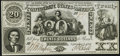 Confederate Notes:1861 Issues, CT20/141A-1 Counterfeit $20 1861 Crisp Uncirculated.. ...