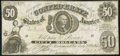 Confederate Notes:1861 Issues, CT8/15B Counterfeit $50 1861 Fine.. ...