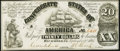 Confederate Notes:1861 Issues, CT18/107 Counterfeit $20 1861 Crisp Uncirculated.. ...