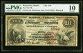 National Bank Notes, Wiscasset, ME - $10 1882 Brown Back Fr. 482 The First National Bank Ch. # 1549 PMG Very Good 10.. ...