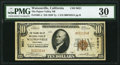 National Bank Notes:California, Watsonville, CA - $10 1929 Ty. 1 The Pajaro Valley NB Ch. # 9621 PMG Very Fine 30.. ...