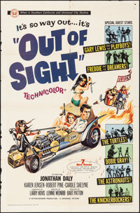 "Out of Sight (Universal, 1966). Folded, Fine/Very Fine. One Sheet (27"" X 41""). Joseph Smith Artwork. Rock and..."