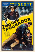 """Movie Posters:Western, Two Gun Troubador (Spectrum, 1939). Folded, Overall: Very Fine-. One Sheet (27"""" X 41""""), Title Lobby Card (11"""" X 14""""), & Uncu... (Total: 3 Items)"""