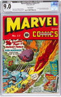 Golden Age (1938-1955):Superhero, Marvel Mystery Comics #17 San Francisco Pedigree (Timely, 1941) CGC VF/NM 9.0 Off-white to white pages....