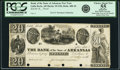 Obsoletes By State:Arkansas, Little Rock, AR - Bank of the State of Arkansas $20 Post Note 18__ AR-10 G56 Rothert 400-10 Proof. PCGS Choice About New 5...