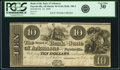 Obsoletes By State:Arkansas, Fayetteville, AR - Bank of the State of Arkansas $10 Feb. 22, 1840 AR-10 G144, Rothert 186-2. PCGS Very Fine 30.. ...