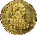 Spain: Charles IV gold Escudo 1807 M-FA MS64 NGC