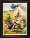 "Baseball Collectibles:Others, 1889 Cap Anson and Buck Ewing ""Burke Ale"" Beer Advertising Poster...."