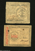 "Colonial Notes:Continental Congress Issues, Continental Currency ""February 17, 1776"" $3 Very Fine.... (2 notes)"