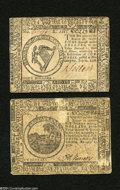 "Colonial Notes:Continental Congress Issues, Continental Currency ""February 17, 1776"" $6 Very Fine-ExtremelyFine.... (2 notes)"