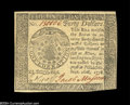 Colonial Notes:Continental Congress Issues, Continental Congress Issue September 26, 1778 $40 Very ChoiceNew....