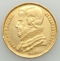 Brazil, Brazil: Pedro II gold 20000 Reis 1851 XF (cleaned, scratches),...