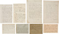 Books:Manuscripts, Louis Pasteur. Group of Six Letters Concerning Rabies, 1871-1890.. ...