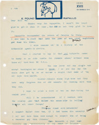 Ezra Pound. Four Typed Letters Signed