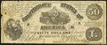 Confederate Notes:1861 Issues, CT14 Counterfeit $50 1861 Fine.. ...