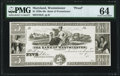 Obsoletes By State:Maryland, Westminster, MD- Bank of Westminster $5 18__ Proof G6 Shank 150.5.5 PMG Choice Uncirculated 64.. ...