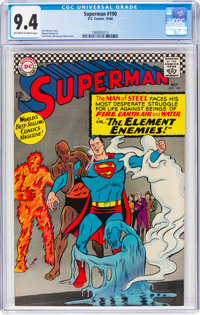 Superman #190 (DC, 1966) CGC NM 9.4 Off-white to white pages