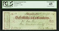 Forest Hill, CA- Hardy & Kennedy Store Check on D.O. Mills & Co. Bankers $170 Nov. 7, 1861 PCGS Extremel...