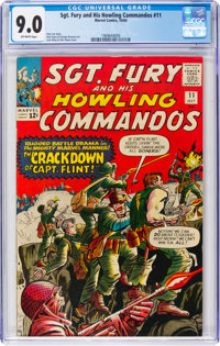 Sgt. Fury and His Howling Commandos #11 (Marvel, 1964) CGC VF/NM 9.0 Off-white pages