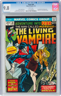 Fear #20 Morbius the Living Vampire (Marvel, 1974) CGC NM/MT 9.8 White pages
