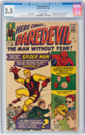Silver Age (1956-1969):Superhero, Daredevil #1 (Marvel, 1964) CGC VG- 3.5 Off-white pages....