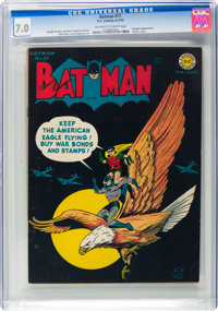 Batman #17 (DC, 1943) CGC FN/VF 7.0 Off-white to white pages