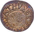 Colonials, 1652 SHILNG Oak Tree Shilling, IN at Bottom, MS65 PCGS. Noe-4, W-460, Salmon 2-D, R.4. ...