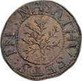 1652 SHILNG Oak Tree Shilling, IN at Left, MS63 PCGS. Noe-1, W-430, Salmon 1-A, R.3. ...(PCGS# 45361)